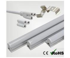 Réglette LED T5 9W 60cm - couleur eclairage : Blanc Neutre 4000K - 5500K