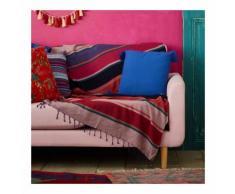Jeté de canapé, rayures multicolores couleur EMERAUDE Monoprix Maison