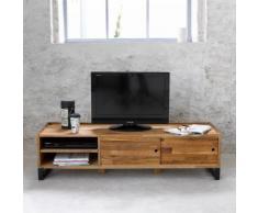 Banc TV, chêne massif abouté et acier, Hiba - La Redoute Interieurs