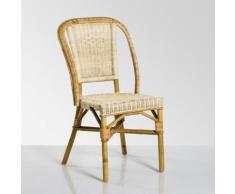Chaise de jardin rotin naturel, KOK, Albertine - KOK