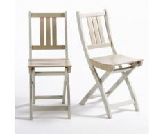 Chaise de jardin acacia FSC Manta (lot de 2) - La Redoute Interieurs
