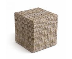 Pouf cubique kubu ou rotin repose-pieds, INQALUIT - La Redoute Interieurs