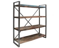 Bibliothèque en bois 4 étagères Industry,