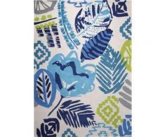 Tapis floral bleu Tara Esprit Home, 200 x 300 cm