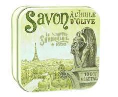 Savon Rose de Mai 100 g et Boite Métal Gargouille,