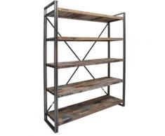 Bibliothèque en bois 5 étagères Industry,