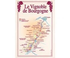 Torchon Vignoble de Bourgogne TORCHONS & BOUCHONS,