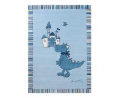 Tapis bleu Dragon castle ESPRIT HOME, 140 x 200 cm