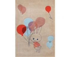 Tapis enfant beige Balloon rabbit par Shinzi Katoh, 110 x 160 cm