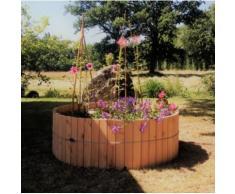 Jardinière circulaire en bois 550 Litres,