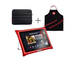 Tablette QOOQ ULTIMATE rouge + housse + tablier,