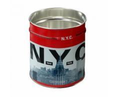 Corbeille à papier métal 12 litres D24xH26.5cm - New York BASKET TWEL