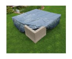 Housse de protection salon bas de jardin 200x200xH70 cm gris/noir GRAPHITE