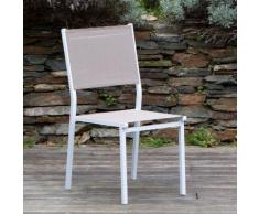Chaise de jardin (lot de 2) en aluminium et polyester enduit SUNNY Taupe