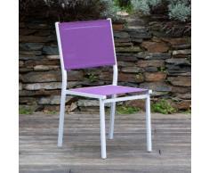 Chaise de jardin (lot de 2) en aluminium et polyester enduit SUNNY Violet