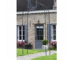 Pergola en acier galvanisé noir 113 x 38 x 229 cm