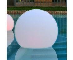 Boule lumineuse extérieure LED multicolore sans fil en polyéthylène Buly 40cm