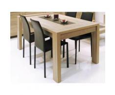 Table à manger rectangulaire bois avec allonge L180/240xP90xH79cm OAK