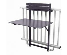 Table de balcon pliante rabattable en acier hauteur 115cm BISTRO Prune