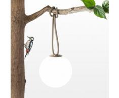BOLLEKE - Suspension LED rechargeable d'extérieur Taupe Ø20cm - Luminaire d'extérieur Fatboy designé par Nathalie Schelleskens