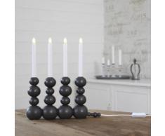 BUBBLES - Chandelier LED Bulles Bois Gris H37cm - Lampe à poser Xmas Living Glass designé par