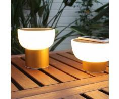 PATIO - Lampe LED d'extérieur rechargeable Or Ø16cm - Lampe à poser Alma Light designé par Oriol Llahona