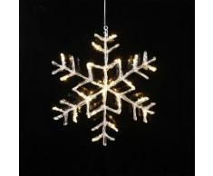 ANTARTICA - Flocon Lumineux Transparent à suspendre LED H40cm - Suspension Xmas Living Glass designé par