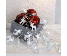 FELT ELK - Guirlande Elan feutrine Blanc LED à pile L2,25m - Guirlande et objet lumineux Xmas Living Glass designé par