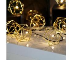 EDGE - Guirlande Lumineuse Filament Doré 10 LED L5,25m - Guirlande et objet lumineux Xmas Living Glass designé par