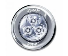 DOT-IT CLASSIC - Spot Sous-Meuble Argenté LED Blanc Froid à piles Ø6,7cm - Luminaire à LED Osram designé par