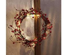 BERRY WREATH - Couronne lumineuse Marron et Rouge Ø30cm - Lampe à poser Xmas Living Glass designé par