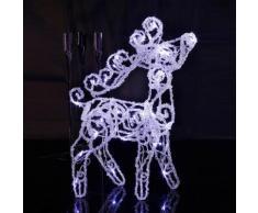 CRYSTAL DEER - Cerf lumineux LED H45cm - Guirlande et objet lumineux Xmas Living Glass designé par