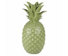 Statuette ananas en porcelaine verte H16