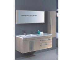 items-france NEOMA - Meuble salle de bain contemporain neoma 130x50x52