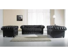 items-france Chesterfield2 - Ensemble canape cuir 5 places 206x97 163x97 115x97