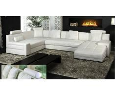 items-france MONNA 2 - Canape cuir convertible 5/6 places 337x200x165