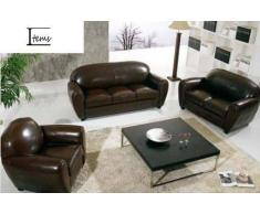 items-france CLUB 3+2+1 - Canape cuir 6 places 215x90 160x90 110x90