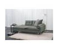 items-france ROMA - Meridienne lit tissu kaki 180x104
