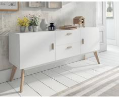 items-france PASADENA XL - Buffet design blanc 160x40x70cm