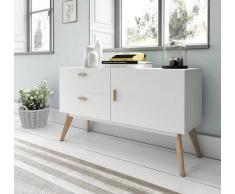 items-france PASADENA - Buffet design blanc 120x40x70cm