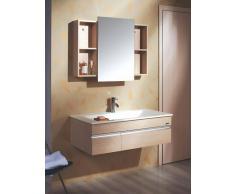 items-france LYSITA SANS VASQUE - Meuble sans vasque salle de bain contemporain ...