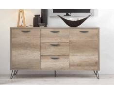 items-france NATURA B - Buffet bois 150x40x86cm