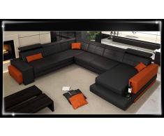 items-france FLORENCE - Canape lit cuir 6 places 292x349x185