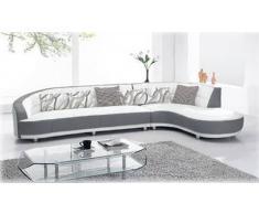 items-france DESIGN - Canape contemporain d´angle cuir 6 places 305x170x90