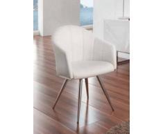items-france CLEVELAND - Lot de 2 chaises similicuir 56x76x74/47cm