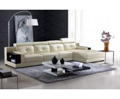 items-france PANTEMA PERSONNALISE - Canape contemporain d´angle cuir 4 places 29...