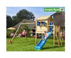 Promo - Maisonnette en bois sur pilotis Jungle Gym JAMBALI - 9 enfants