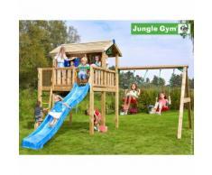 Promo - Maisonnette en bois sur pilotis Jungle Gym SWANGA - 11 enfants