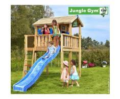 Promo - Maisonnette en bois sur pilotis Jungle Gym MIKATAWA - 9 enfants