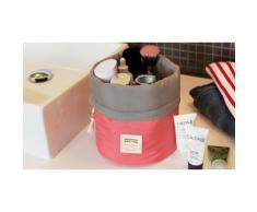1 trousse cosmétique de voyage cylindrique - Rouge